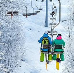 スキー場にもすぐ行ける魅力。
